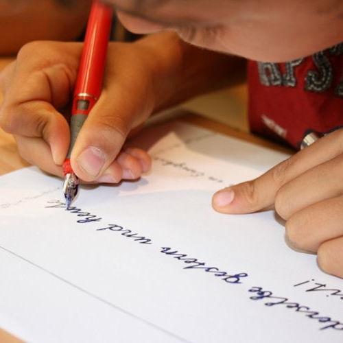 Bild zum Weblog Kleckst du noch oder schreibst du schon?